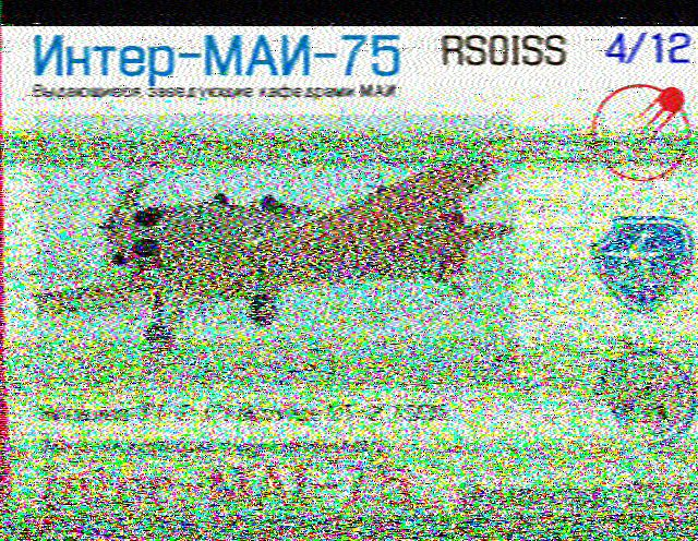 Reception SSTV ISS du 06 dec 2019 Hist2210