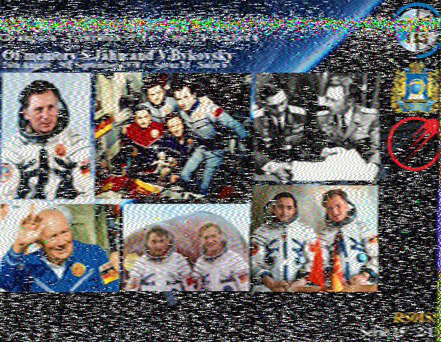 ISS SSTV 29/12/2019 Hist2610