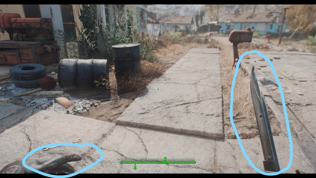 [FO4] ENB blurry character outline Inked210