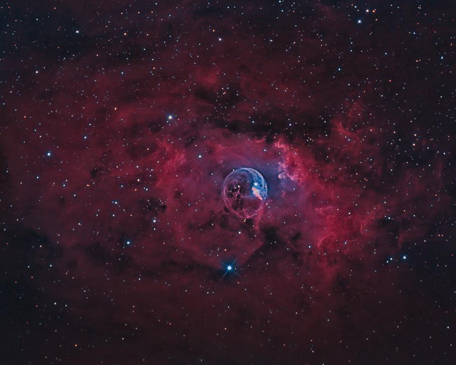 NGC 7635 La bubulle Nébula via SetUp ZWO ASIAIR Pro 12080410