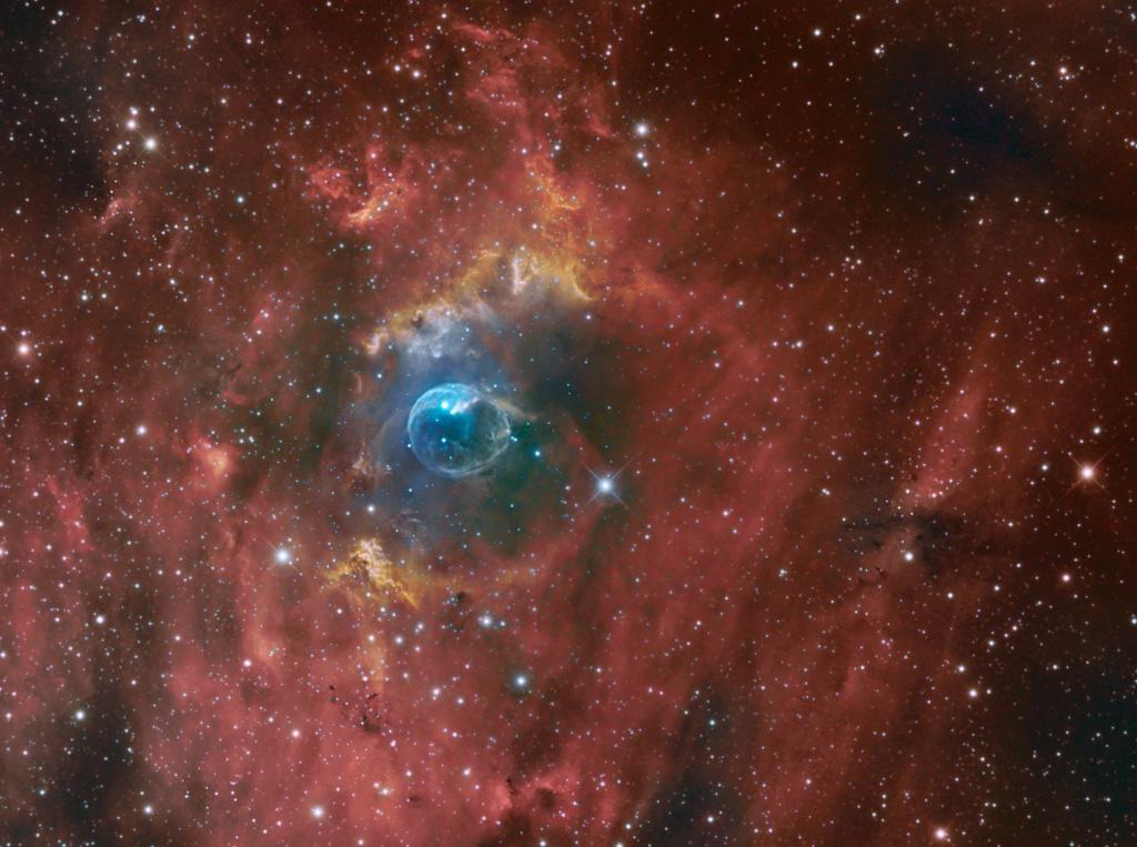 NGC 7635 La bubulle Nébula via SetUp ZWO ASIAIR Pro 14100210