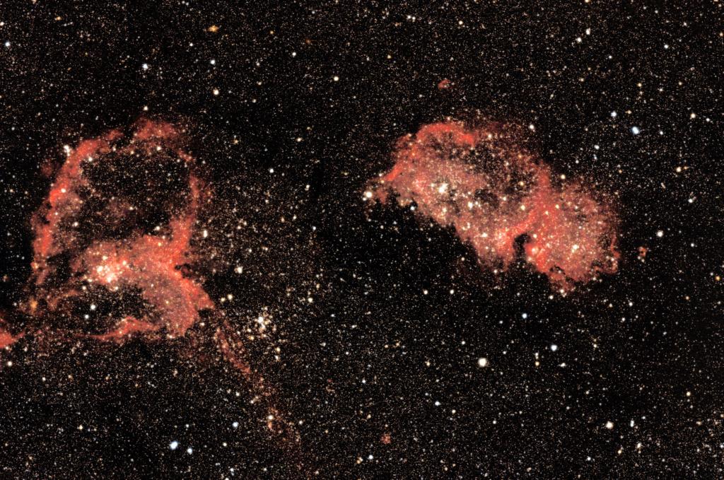 Nébuleuse de l'Âme et du Coeur IC1848 et IC 1805 Ic184811