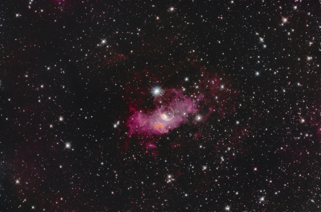 NGC 7635 La bubulle Nébula via SetUp ZWO ASIAIR Pro La_bul10
