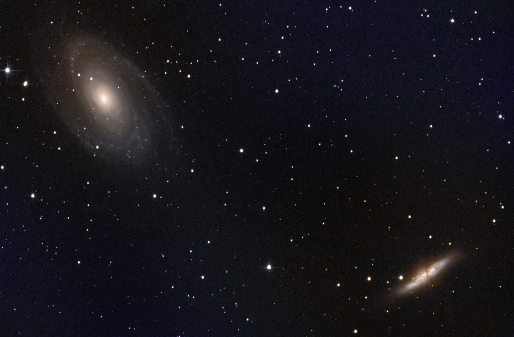 M81 Bode & M82 Cigare Galaxy M81m8210
