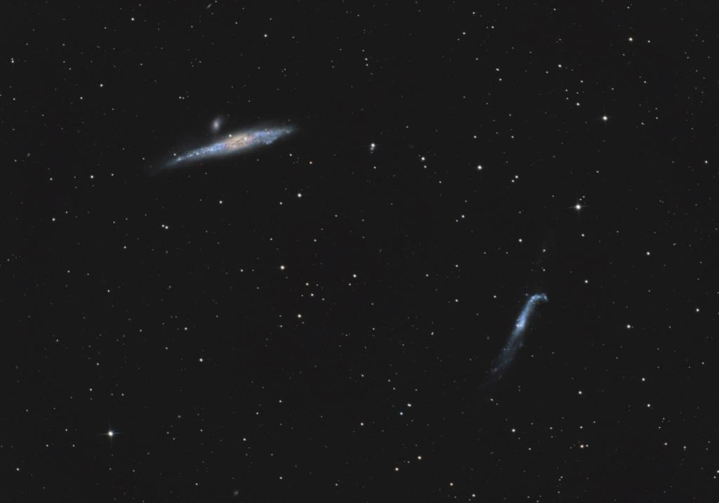 La Baleine et le bâton de Hockey duo de galaxies. Ngc46310