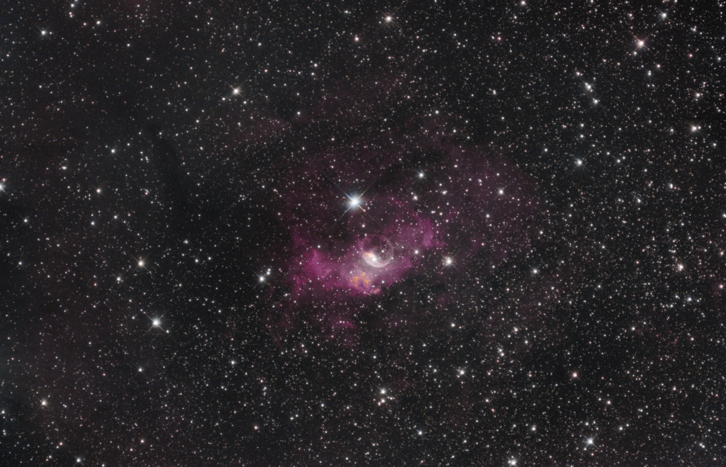 NGC 7635 La bubulle Nébula via SetUp ZWO ASIAIR Pro Ngc76312