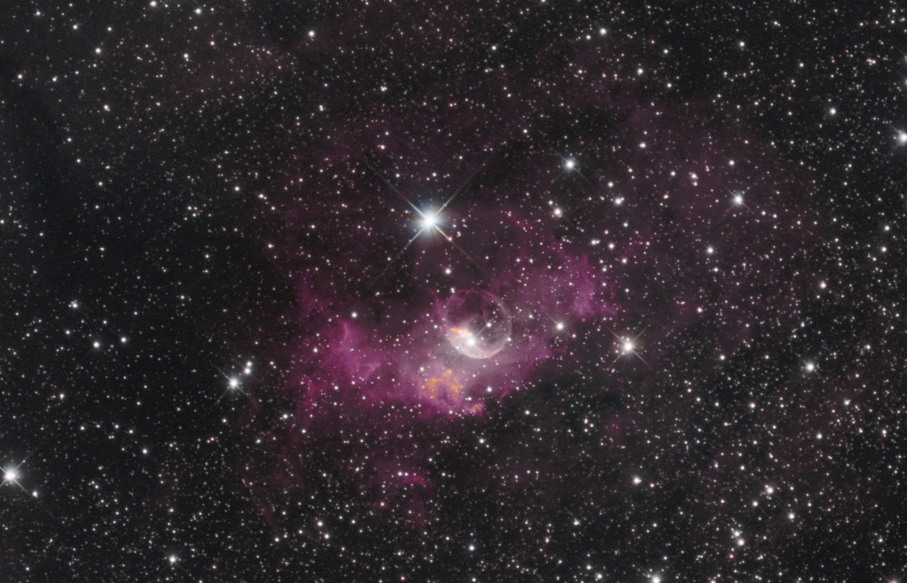 NGC 7635 La bubulle Nébula via SetUp ZWO ASIAIR Pro Ngc76313
