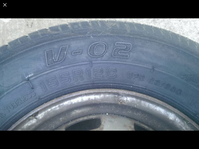 """Standard 12"""" wheel -- with tyre? 885e0f10"""