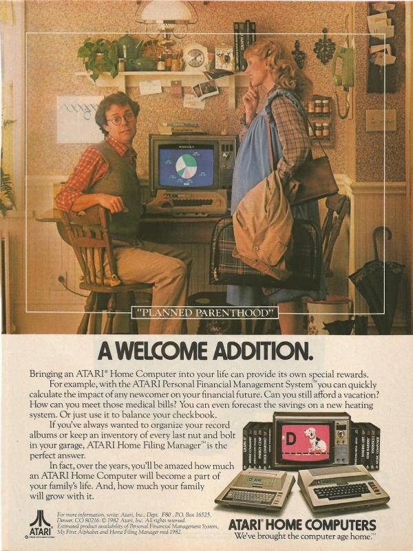 la plus belle pub retro pour un micro 8bit ? Atari-10