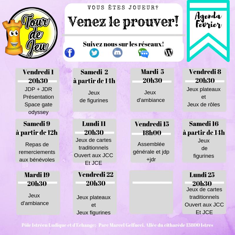 Agenda du mois Agenda10