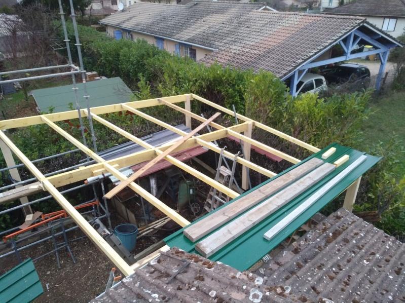 Charpente pour toiture abris de jardin en tôles bac acier Img_2140