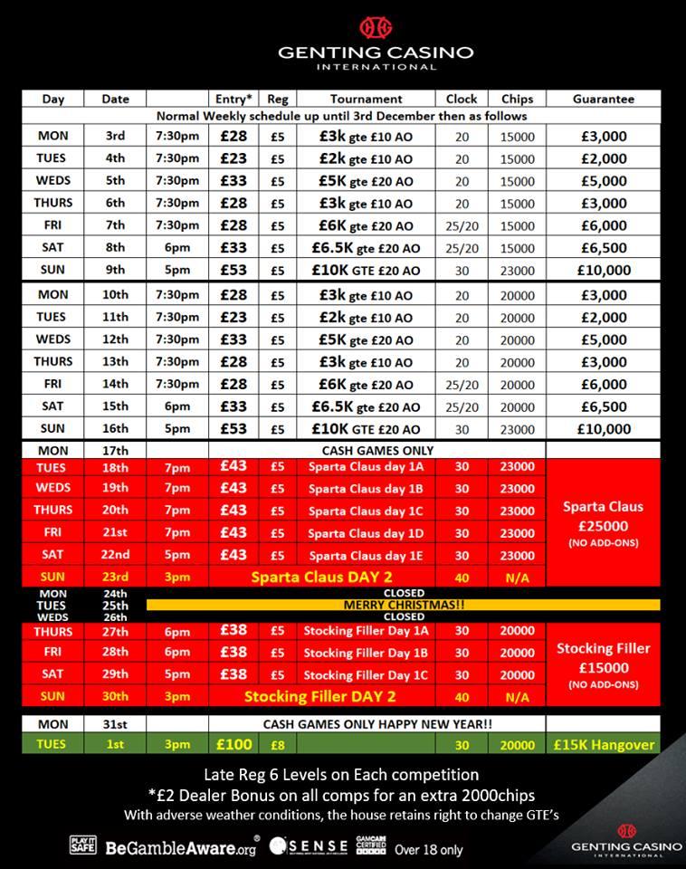 Decembers Schedule at Resorts World Dec_1810