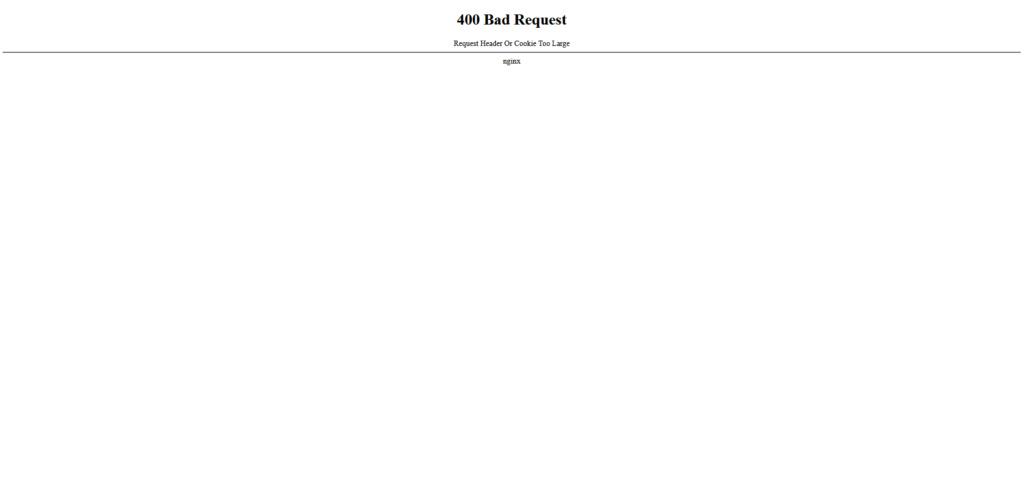 400 Bad Request Screen10