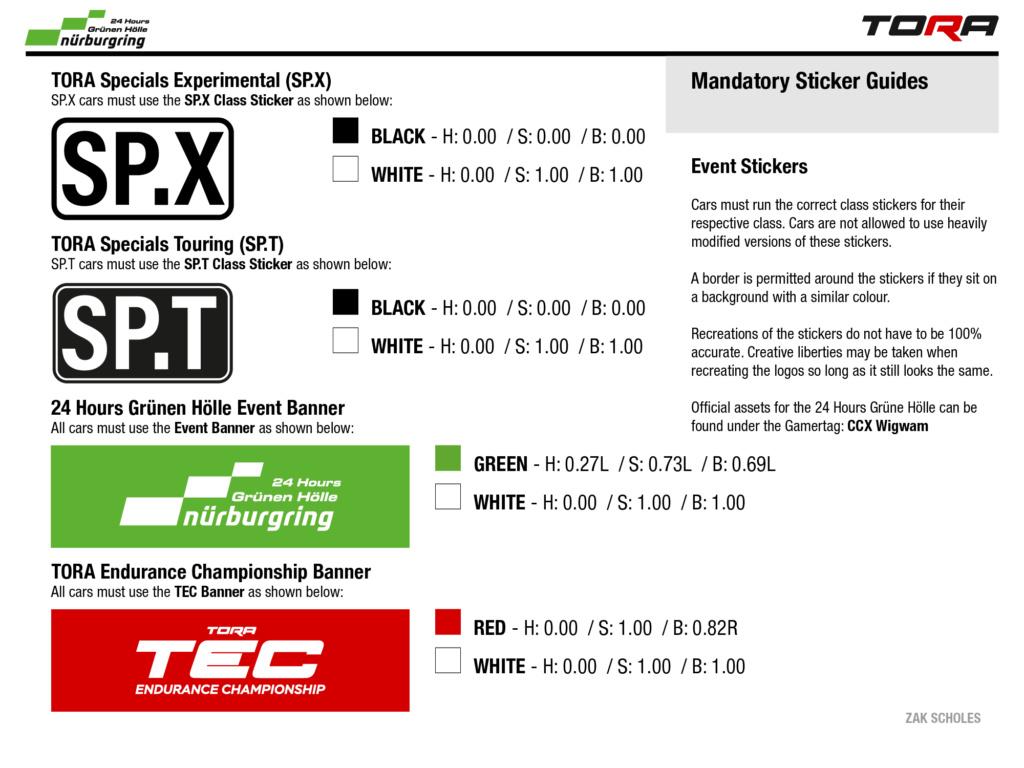 TEC R5 24h Rennen in der Grünen Hölle - Livery & Decal Rules N24_li10