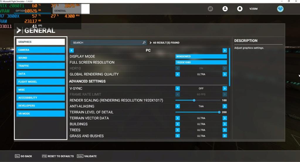 Consumo elevado de RAM e VRAM do PC no MSFS 2020 Imagem13