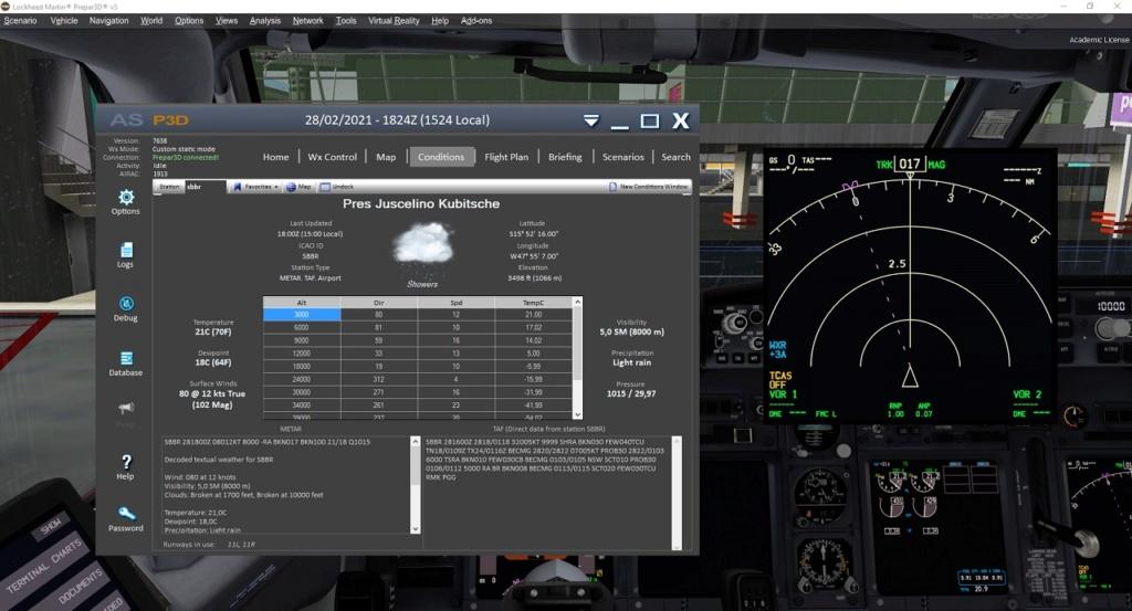 Weather Radar do PMDG e FSLABs Inoperante P3Dv5.1 HF1 Img_0110