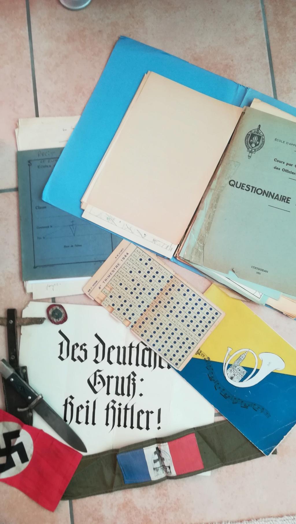 Lot documents , brassards NSDAP et FFI Img_2120