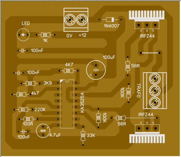 Simples Inversor com o KA3525A 0111