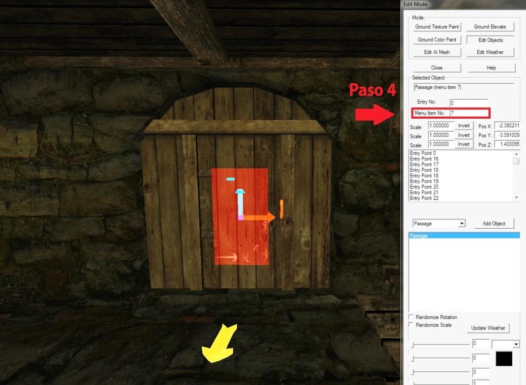 Como se usa el pssage en el Editor Paso_410