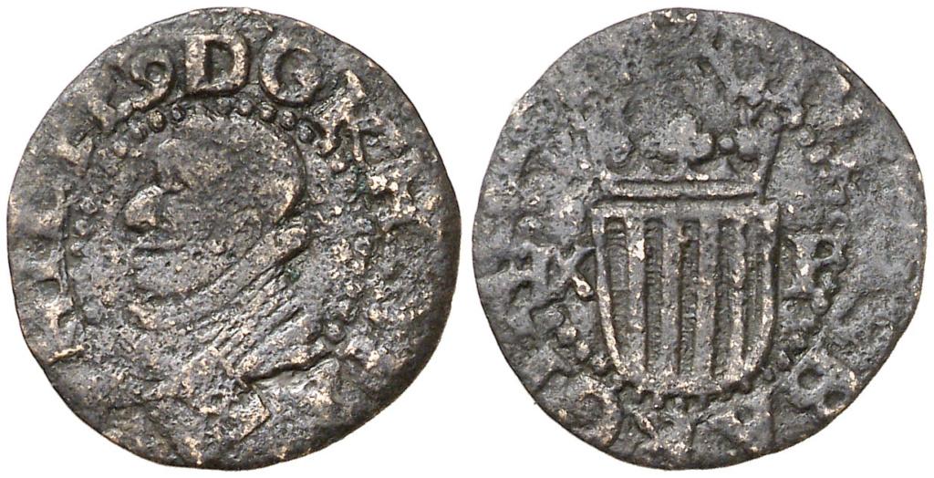 1/3 Trentí (1618) Barcelona. Felipe III. Cobre. MBC. Ex Colección Crusafont 1618_f10