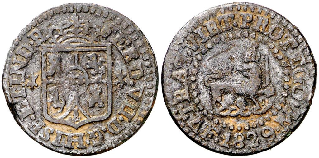 1 Quarto de Real. 1829. Fernando VII. Manila. Ex Colección Bohol. MBC 1_cuar11