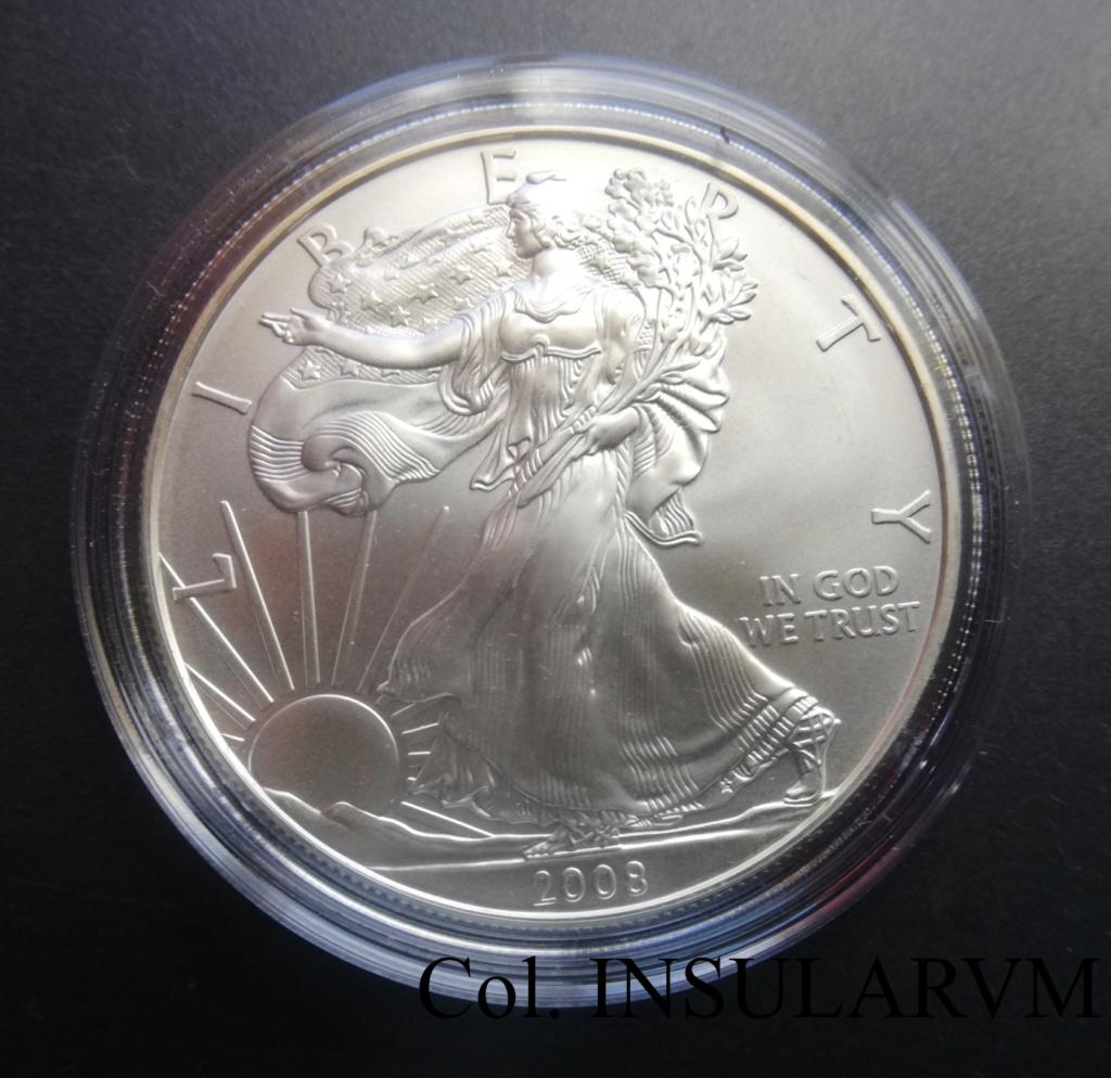 """EEUU, 1 Dólar. 2008. West Point. """"Silver Eagle"""" UNC/BU 1_onza44"""
