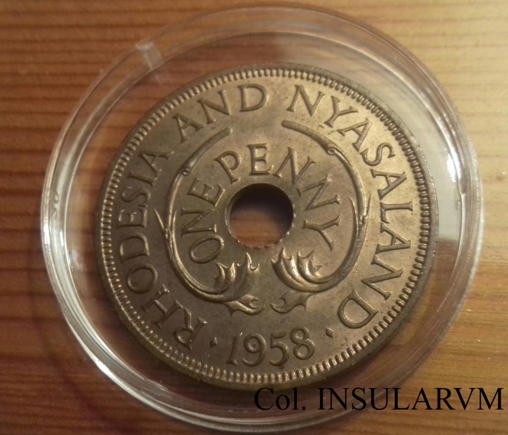 RHODESIA & NYASALAND, 1 Penny. 1958. Admón británica. SC/UNC 1_penn10