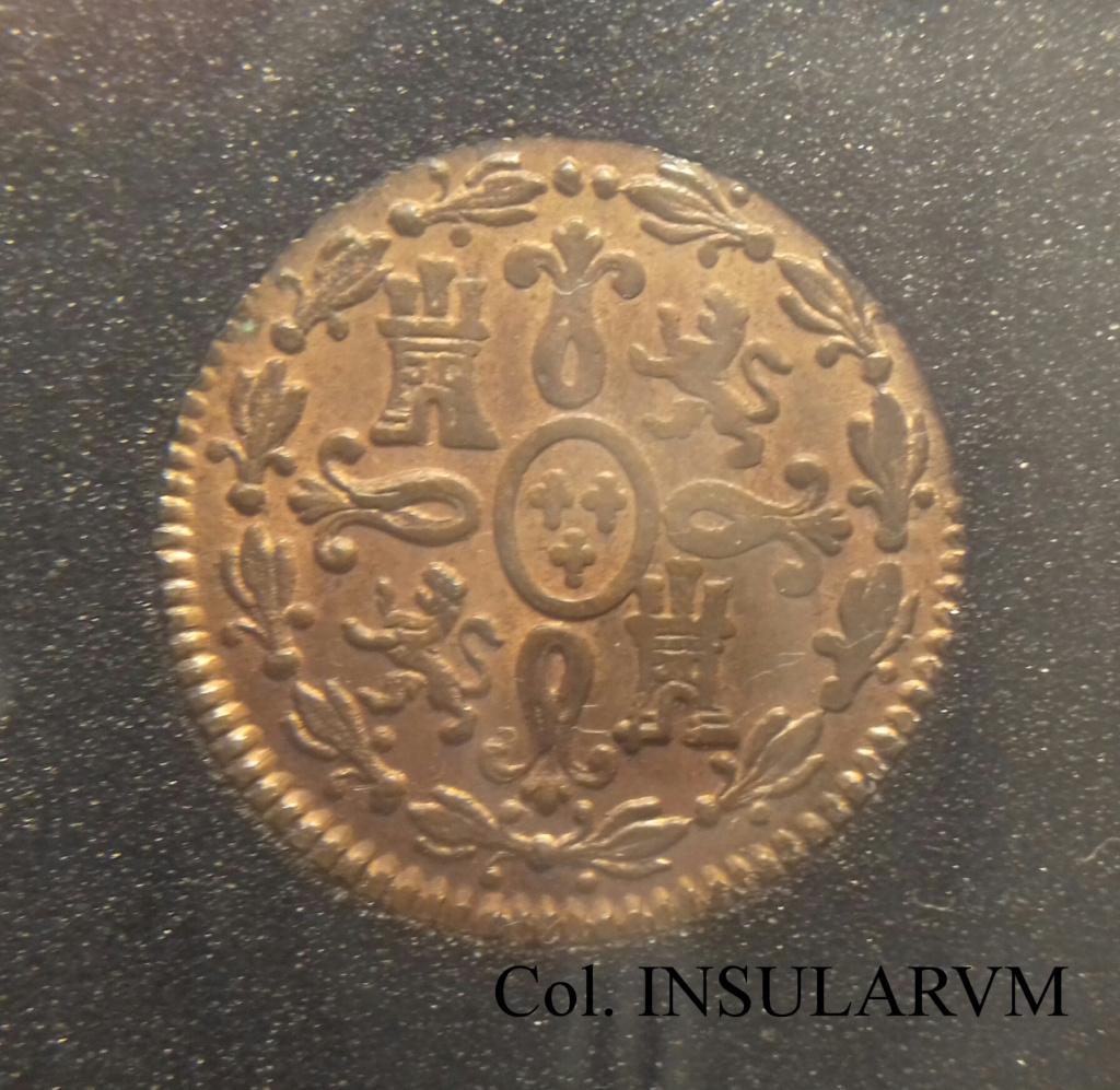 """2 Maravedís 1820. Fernando VII. Segovia. EBC+/AU+. Vte """"dos puntos"""" 2_mara13"""
