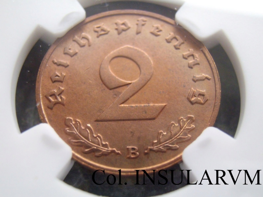 III Reich, 2 ReichsPfennig 1939-B  NGC UNC DETAILS CLEANED 2_reic11