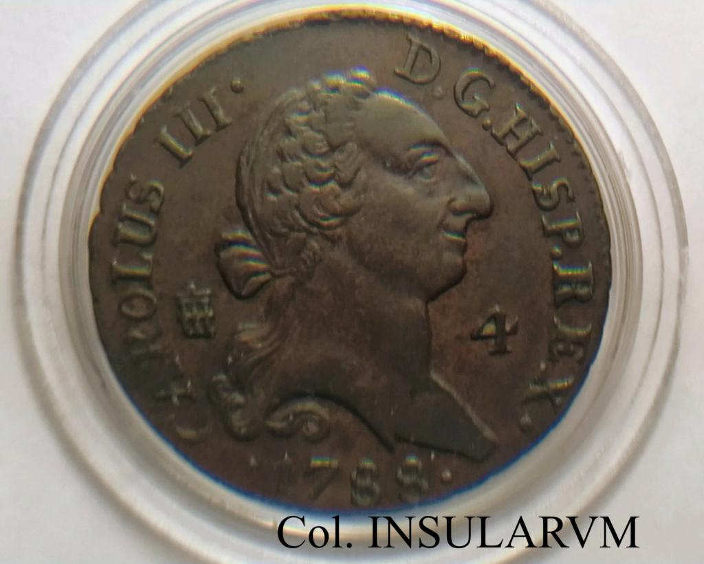 """Carlos III, 4 Maravedís 1788 (Segovia). Vte """"Sin punto"""" EBC+/EBC 4marav10"""
