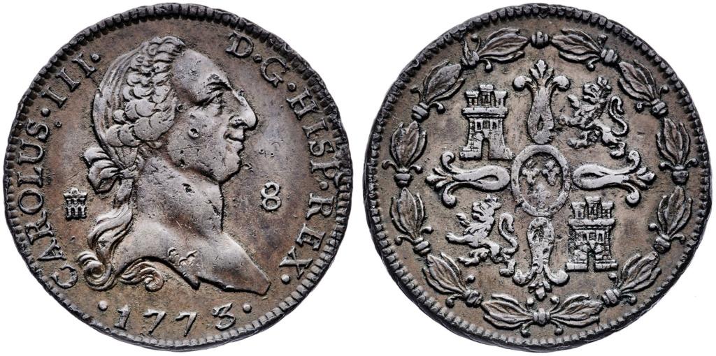 Carlos IV, 8 Maravedís. 1773. Segovia, MBC 8_mara24