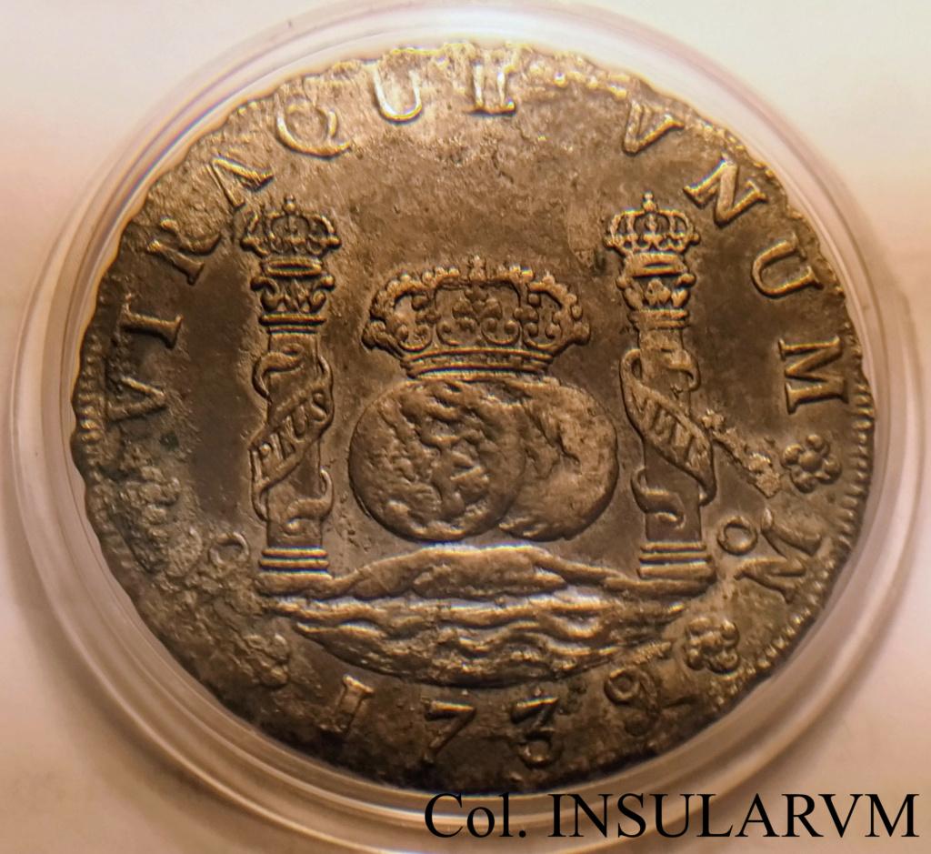 """Felipe V. 8 Reales. 1739. MF. México. """"Pecio Cuba Desconocido (Ca. 1741-1742)"""". 8_real21"""