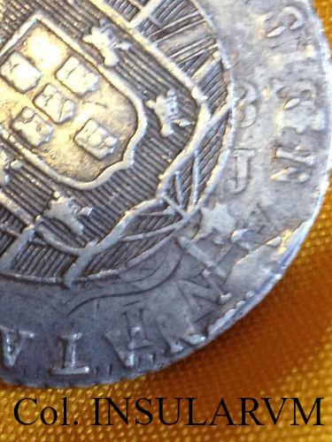 Brasil/España, 960 Reis 1821 (Juan VI) acuñados sobre 8 Reales (Ceca peninsular) 960_re10