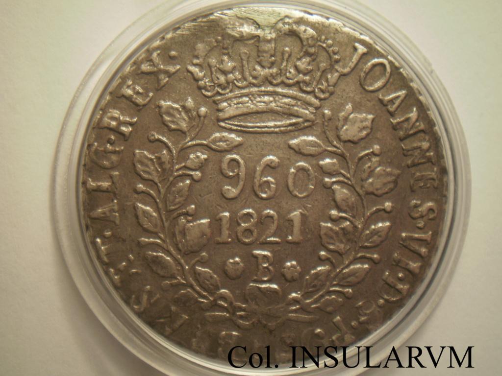 Brasil/España, 960 Reis 1821 (Juan VI) acuñados sobre 8 Reales (Ceca peninsular) 960_re11