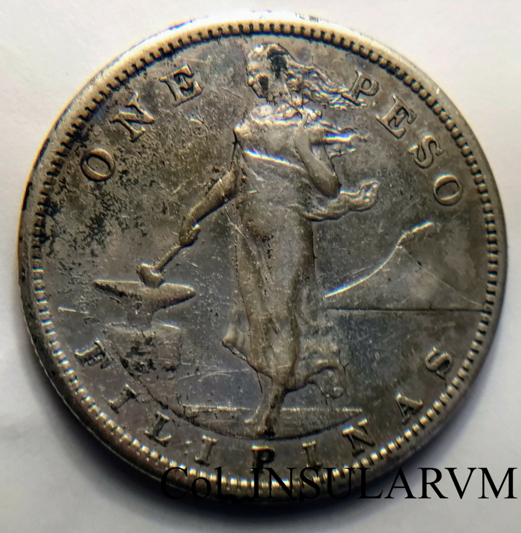 "1 Peso. 1907. Filipinas. II Guerra Mundial. ""Manila Bay Treasure"" (1942) Img_2032"