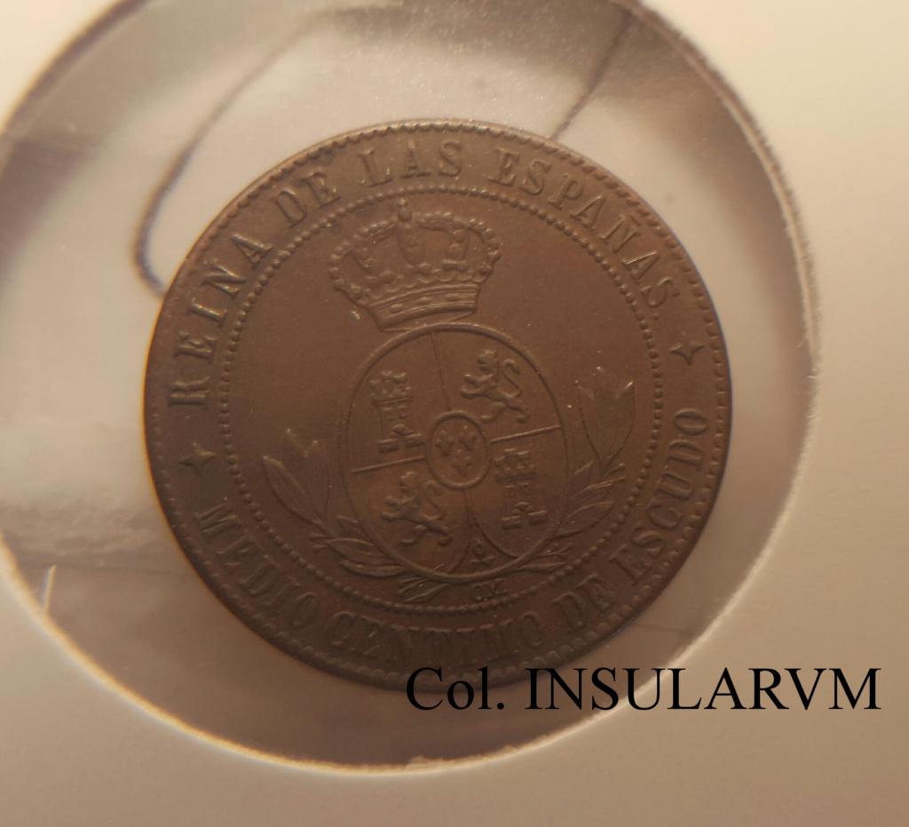 1/2 Céntimo de Escudo 1867. Isabel II. Jubia OM. SC-/UNC- Medio_15