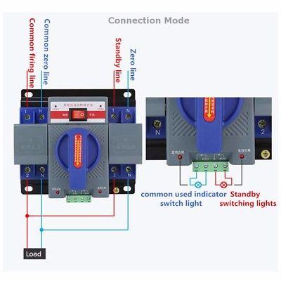Bộ đổi nguồn điện tự động ATS 2P 63A Ats20210