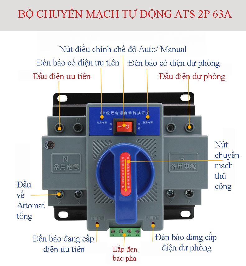 Bộ đổi nguồn điện tự động ATS 2P 63A Bo-doi10