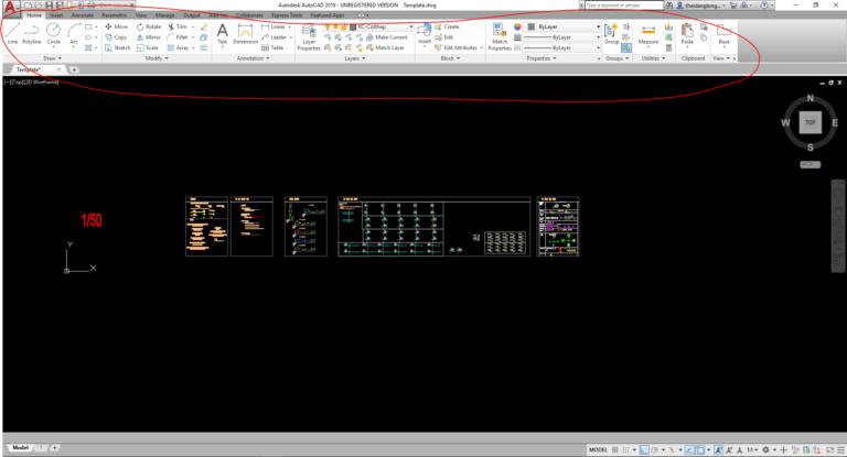 Đổi giao diện AutoCAD Ribbon đời cao về AutoCAD Classic Chuyen10