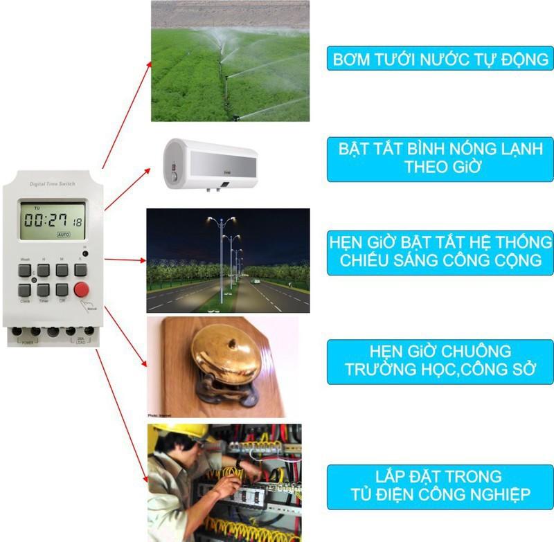 Bộ hẹn giờ- định thời tắt/mở thiết bị tự động thông minh tiết kiệm điện Kerde siêu nhỏ gọn, nhẹ và tiện lợi Timer-10