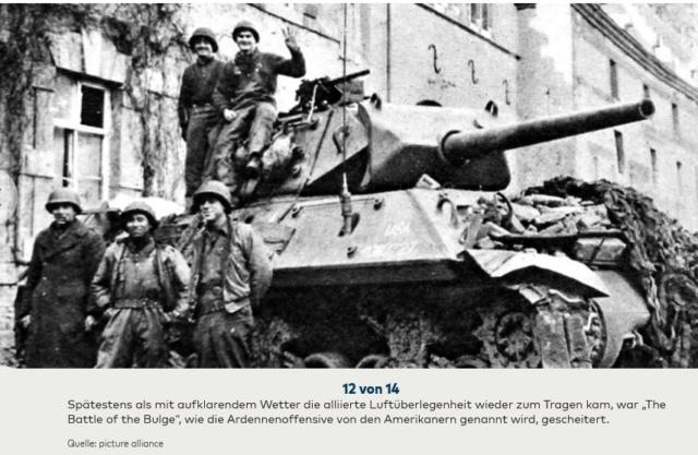 Bataille des Ardennes:«La Wehrmacht n'avait pas la moindre chance», selon Rick Atkinson A0910