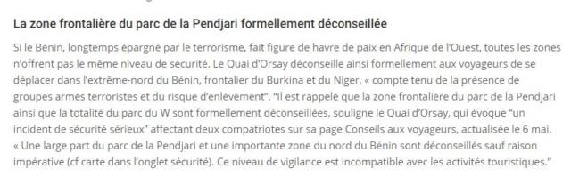 L'Elysée annonce la libération de deux Français enlevés au Benin et la mort de 2 soldats français Benin10