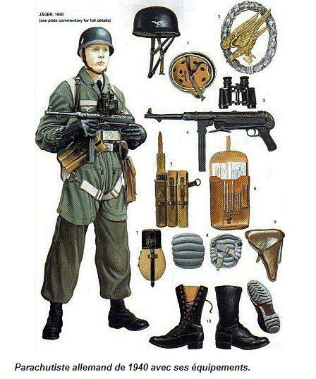 Parachutistes allemands Seconde Guerre Mondiale Equip11