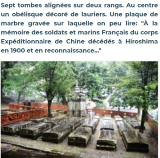Des tombes de soldats français à Hiroshima. Gt11