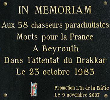 23 octobre 1983 Plaque11