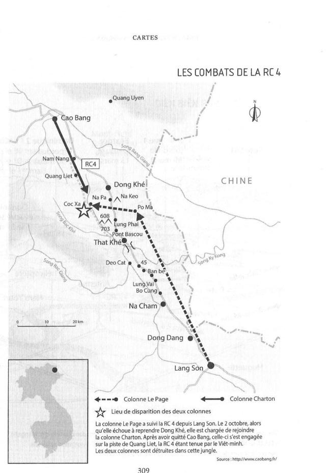 La bataille de Cao Bang et de la route coloniale numéro 4  Rc411