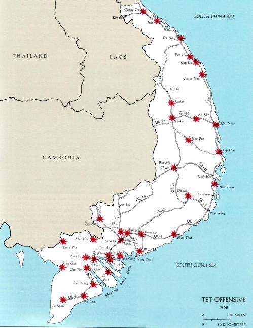 31 janvier 1968 lancement de l'offensive du Têt Tet10