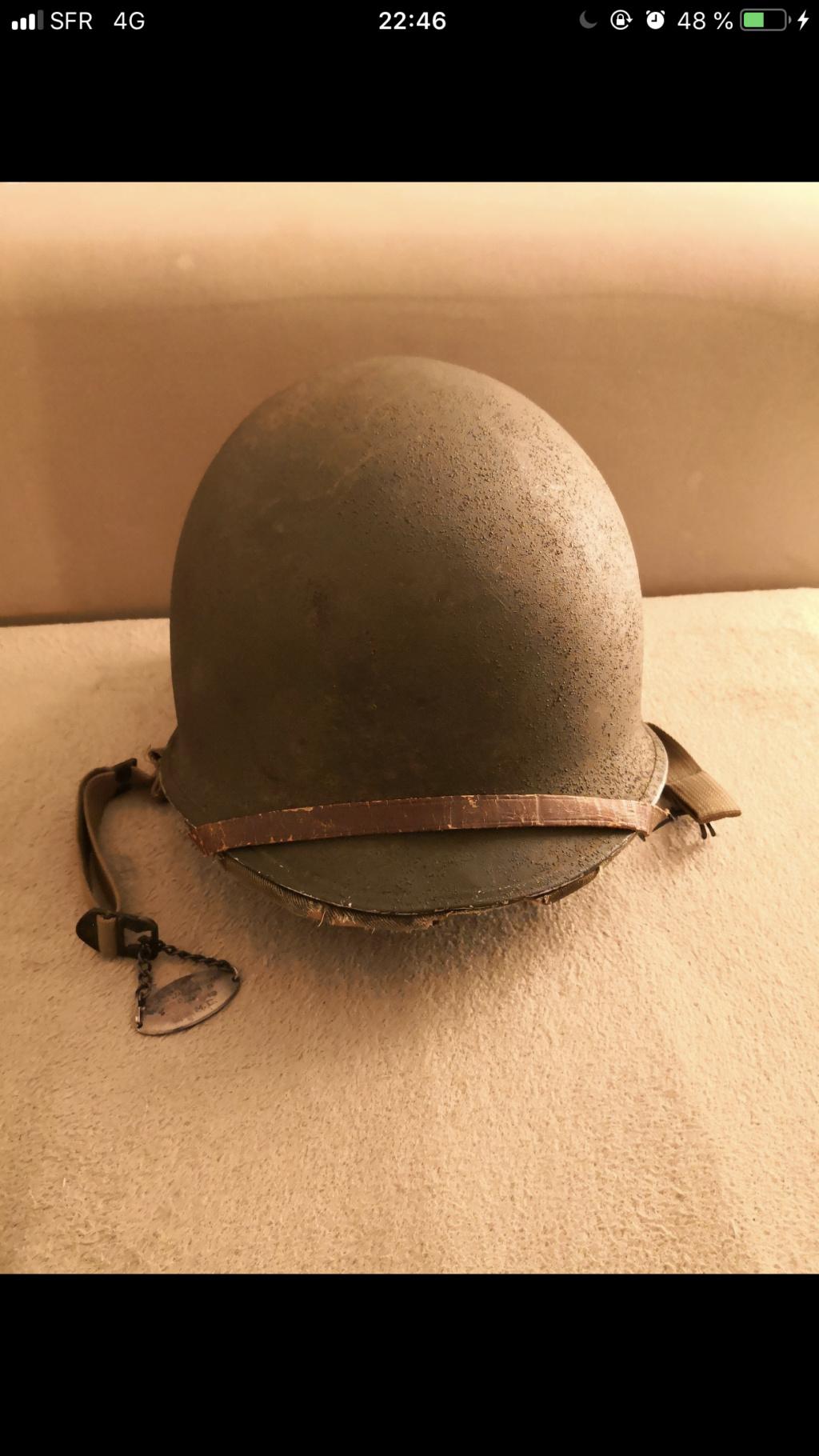 Casque us avec dossier complet antécédent soldat. 565b5310