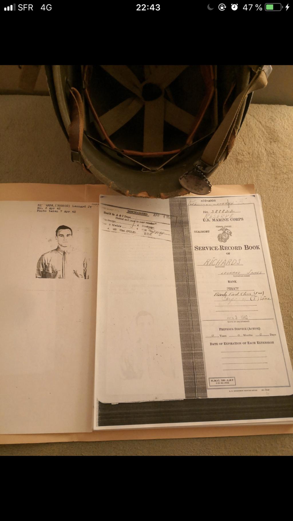 Casque us avec dossier complet antécédent soldat. F7ce1510