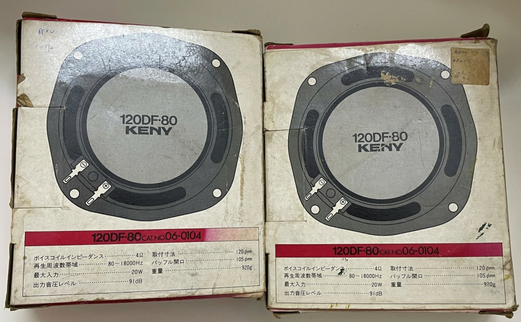 Technica Keny Made in Japan 120mm 4 Ohm speakers (sold) 232